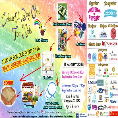 Colorful Day out for kids @ bove 11 Aug