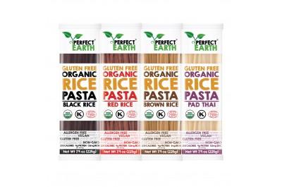 Perfect Earth Organic Rice Pasta - Pad Thai, Brown, Red & Black Rice (225g x 4)